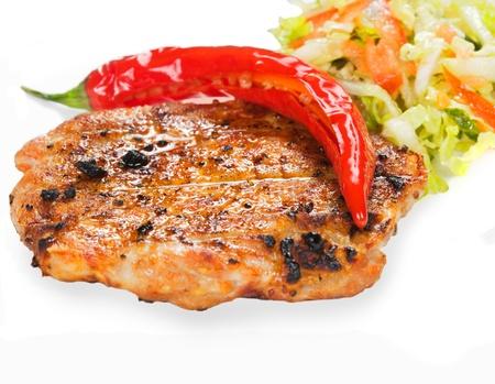 Gourmet grilled steak on a plate Standard-Bild