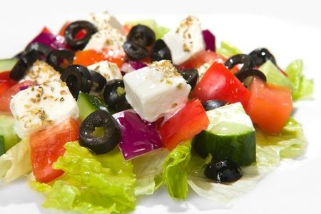 feta: Greek Salad, closeup shot