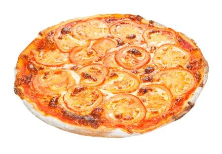 Pizza auf einem weißen Hintergrund Standard-Bild