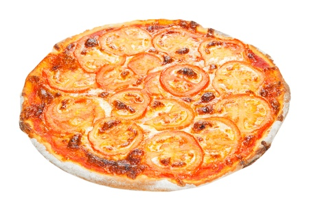 pizza on a white background photo