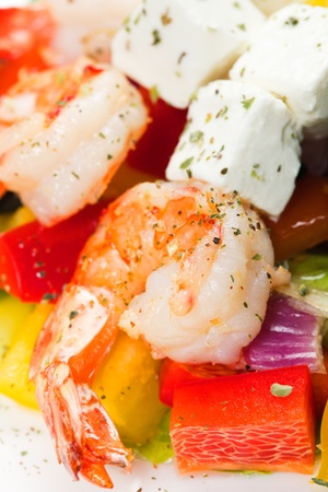 salad with shrimps photo