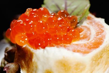 collation: Canape with salmon