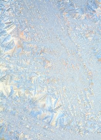 Frosty natürlichen Muster auf Winter-Fenster