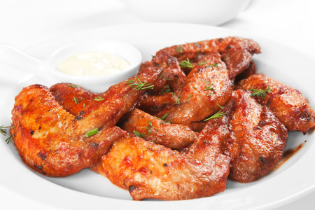 fried chicken wings: Chicken wings