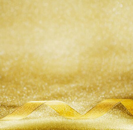gold decorations: Gold background decorating Christmas, Chinese New Year. Stock Photo