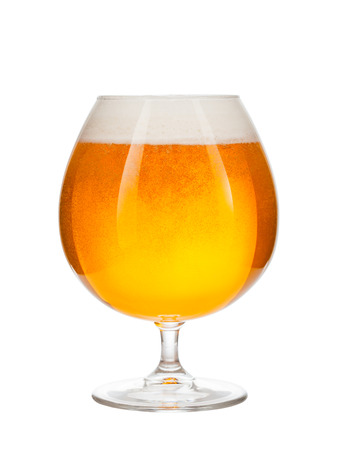 glass of beer isolated on white background Stock Photo - 98598725