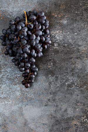 Bunch of grapes on grunge background