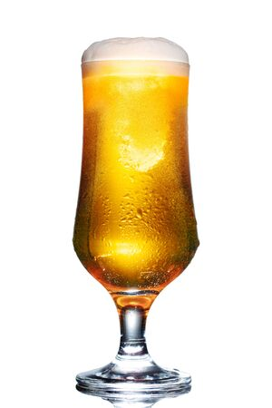 glass of beer isolated on white background Standard-Bild