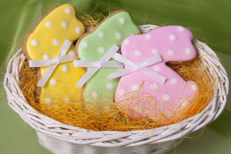 Easter traditional Gingerbread cookies  beckgroung photo