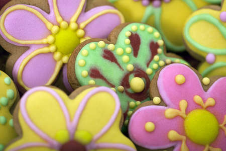 sugar cookie: Easter traditional Gingerbread cookies  beckgroung