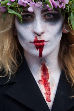hanged woman: Prague, Czech Republic, May 24 - Zombies at the 2014 Prague Zombie Walk - 2013 05 24