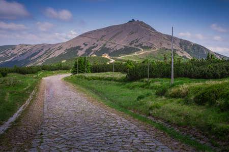 krkonose: Mountain Range landscape - Snezka   Sniezka - Krkonose   Karkonosze Stock Photo