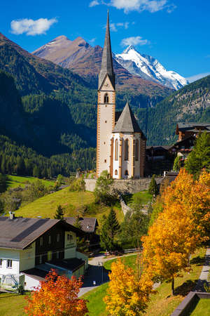 Church in Cortina dAmpezzo, Dolomites, Veneto, Italy photo