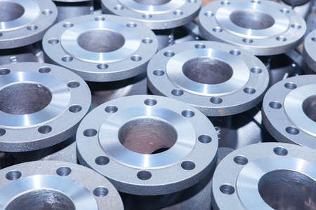 siderurgia: Fondo industrial de la parte de las v�lvulas para energ�a, petr�leo o la industria del gas Foto de archivo