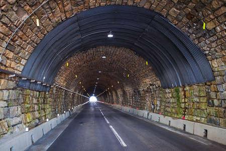 hochalpenstrasse: Road tunnel in alpine mountains. Hochalpenstrasse, Austria