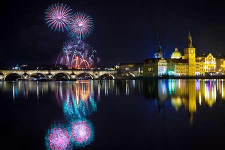 プラハ、チェコの Republick で正月の雰囲気
