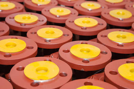 dispatch: Industrial valves ready for dispatch on Euro palletes