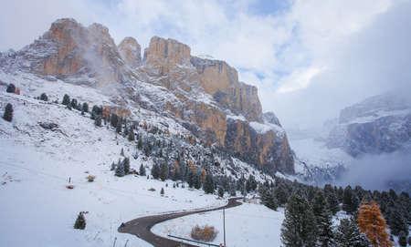fassa: Mountain near Campitello di fassa, Dolomites Alps, Italy