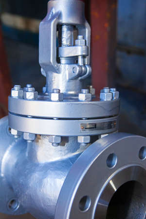 damper: Industrial background from part of valves for power, oil or gas industry Stock Photo