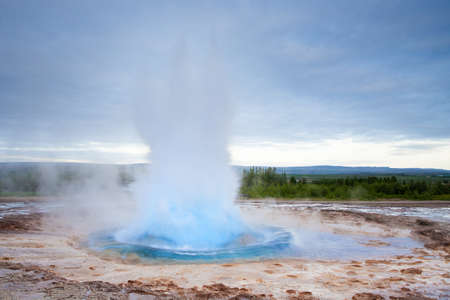 Eruption of Strokkur Geyser in Iceland. This is the famoust fazser on Iceland.