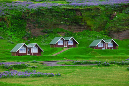 Traditional icelandic Cottage House in Vik, South Iceland