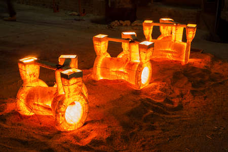 Resin Coated Sand products for casting process Stock Photo