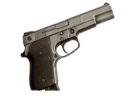gatillo: Gun. Gancho activaci�n. Punta de pistola. Arma. Metal. Foto de archivo