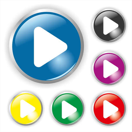 play icon: 6 Colour Play Button Illustration