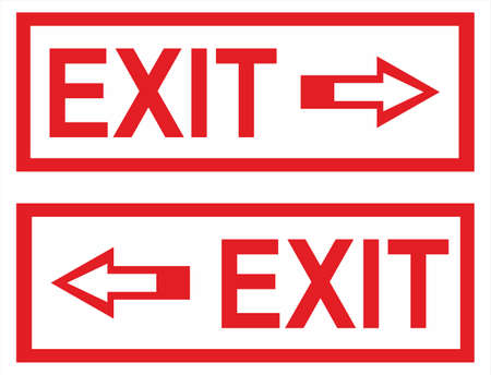 Sign - Exit with arrow Stock Vector - 8222823