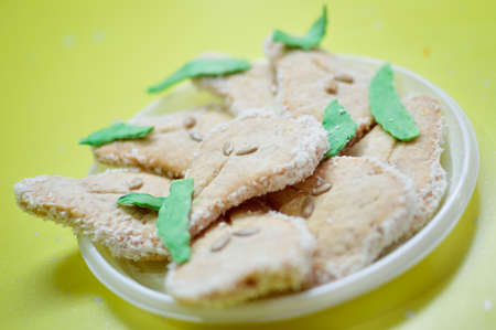image of tasty hand made cookies on plate photo
