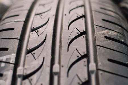 ot: Close up picture of tyre ot tire tread Stock Photo