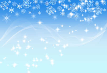 motion picture: Picture of white snowflakes and motion effect on shades of blue background. Pretty festive background.