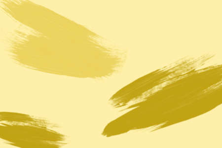 yellow ochre: Picture of ochre and bronze brush strokes. Oil painting effect on pale yellow background. Stock Photo