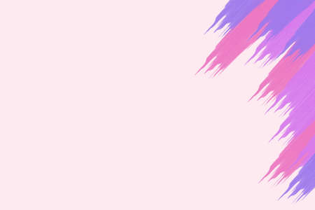side effect: Picture of pink, purple and magenta brush strokes at right side. Artistic effect on pale pink background. Stock Photo