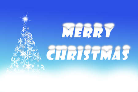 picture of merry christmas written beside charming white christmas tree shaped from snowflakes artistic text - When Was White Christmas Written
