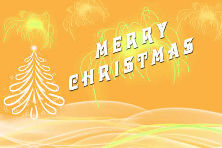 picture of merry christmas written beside white christmas tree with bright gold fireworks bold artistic - When Was White Christmas Written