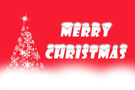 picture of merry christmas written beside beautiful white christmas tree shaped from snowflakes artistic text - When Was White Christmas Written