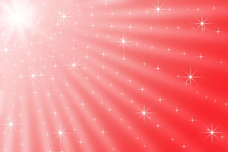 big star: Picture of rays shining from big star in red sky. Artistic digital image with sparkling stars on festive bright red background.