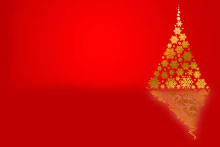 festive: Background with Christmas tree, festive design