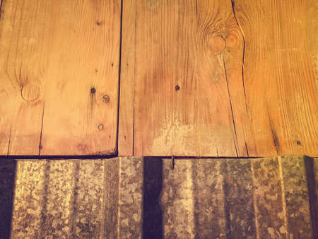 galvanised: Galvanised metal and natural wooden surface background