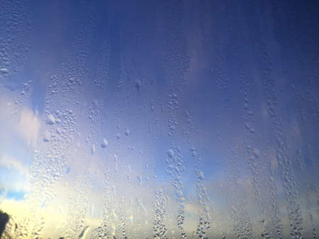 Abstract blurry condensation window background Stok Fotoğraf