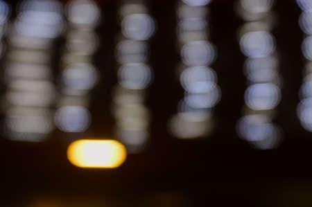 ozone layer: Blurry light bokeh rays background. Creative flare blurred design Stock Photo