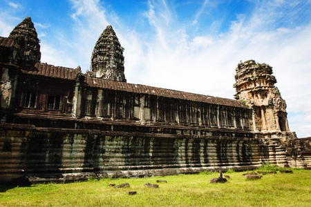 bas relief: Angkor Wat Temple in Siem Reap, Cambodia Stock Photo