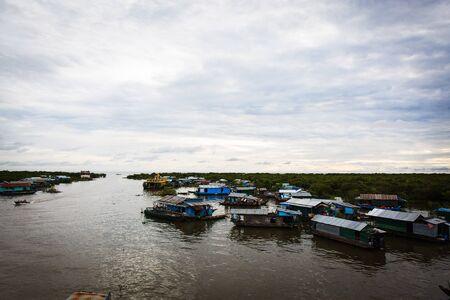 tonle sap: Kompong Chhang Fishing Village located on the Tonle Sap River north of Phnom Penh, Cambodia