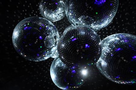 mirrorball: Shiny disco balls on a dark background