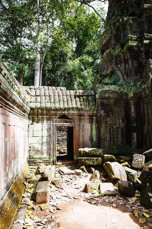 phrom: Ta Phrom temple in Angkor in Cambodia Stock Photo