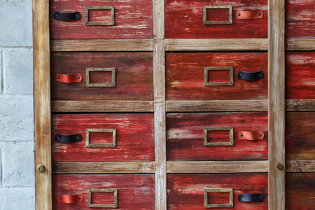 industrial element: Stylish wooden crate in interior. Industrial element Stock Photo