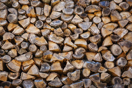 woodpile: Woodpile from big logs - Background And Texture
