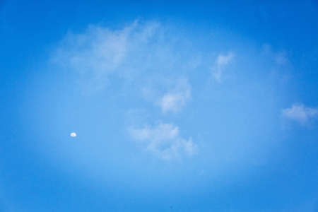 Blue sky background with white clouds in Thailand