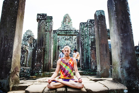 Angkor Wat Cambodia. Khmer ancient Buddhist temple Stock Photo